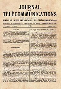 The name changed to Journal des télécommunications in January 1934</p>