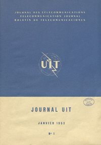 A cover in blue and pale yellow is added to the Journal in January 1953</p>